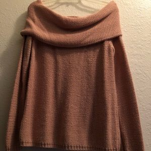 comfortable old rose colored sweater